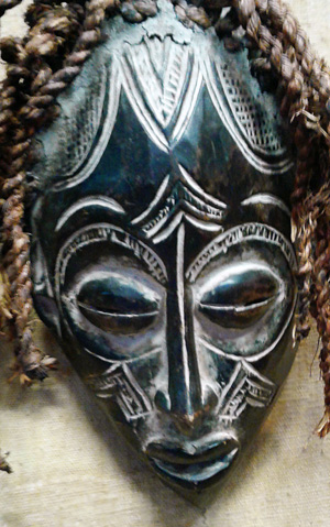 Chokwe Mask Front - Close-up